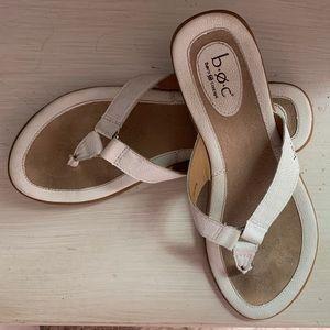 BOC leather sandal white Size 9